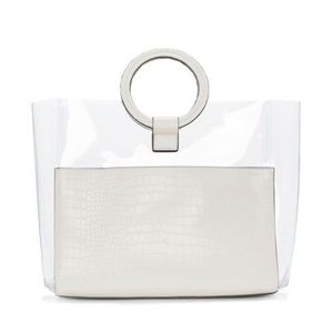 Vince Camuto Clea Ring Top Handle Clear Tote